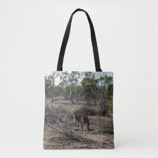 Bolsa Tote Canguru no Billabong, saco de compras completo do