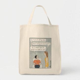 Bolsa Tote Cansado de sentar aqui a sacola