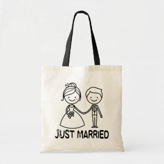 Bolsa Tote Casamento preto da noiva & do noivo dos desenhos