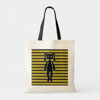 Bolsa Tote Coelho amarelo e preto do gótico