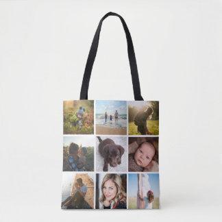 Bolsa Tote Colagem da foto 12 ou foto quadrada de Instagram
