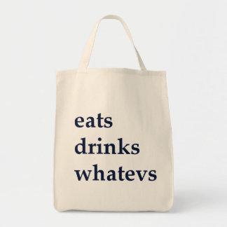 Bolsa Tote Come bebidas Whatevs