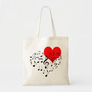Bolsa Tote Coração do canto engraçado um--um-amável