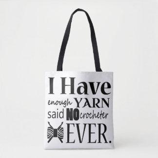 Bolsa Tote Crochet • Não bastante artesanatos do fio