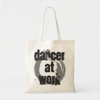 Bolsa Tote Dançarino na sacola branca & cinzenta do trabalho