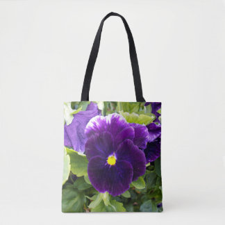 Bolsa Tote Deep_Purple_Pansy_Full_Print_Shopping_Bag.