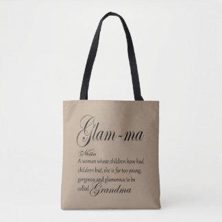 Bolsa Tote Definição GLAM da avó das MÃES
