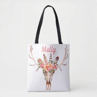 Bolsa Tote Design do saco dois do mercado da aguarela do