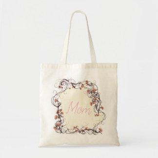 Bolsa Tote Design floral do dia das mães do quadro