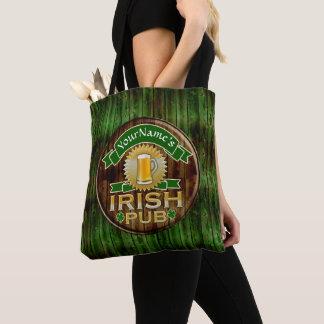 Bolsa Tote Dia de São Patrício irlandês do sinal do bar do