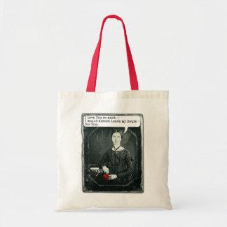 Bolsa Tote Dia dos namorados engraçado de Emily Dickinson do