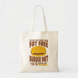 Bolsa Tote Dieta livre de gordura do hamburguer