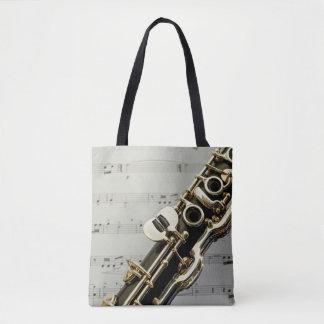 Bolsa Tote Do clarinete fim acima