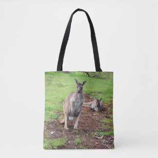 Bolsa Tote Dois cangurus australianos, saco de compras