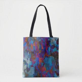 Bolsa Tote Efeito azul da grade de Cystal da arte da