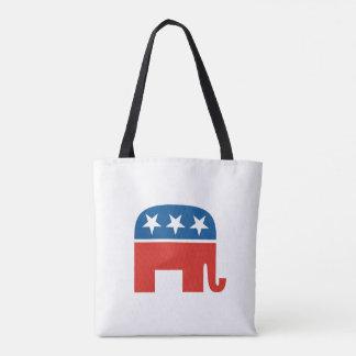Bolsa Tote elefante do Partido Republicano de Estados Unidos