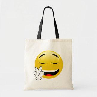 Bolsa Tote Emoji com mãos do sinal de paz
