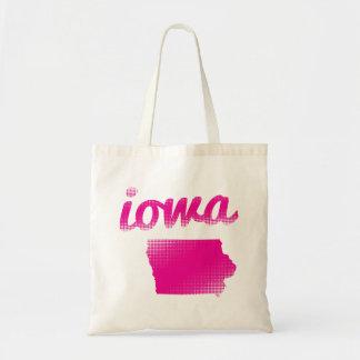Bolsa Tote Estado de Iowa no rosa