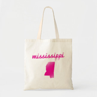 Bolsa Tote Estado de Mississippi no rosa