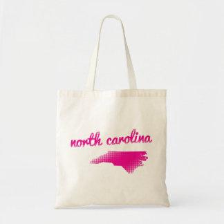 Bolsa Tote Estado de North Carolina no rosa