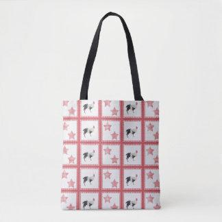 Bolsa Tote Estrelas e saco de compras reusável dos galos