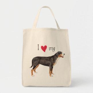 Bolsa Tote Eu amo meu maior cão suíço da montanha