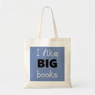 Bolsa Tote Eu gosto da sacola GRANDE dos livros