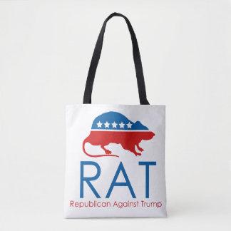 Bolsa Tote Eu sou um R.A.T: Republicano contra o trunfo