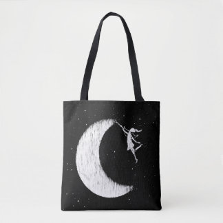 Bolsa Tote Fada da arte: Pinte a lua