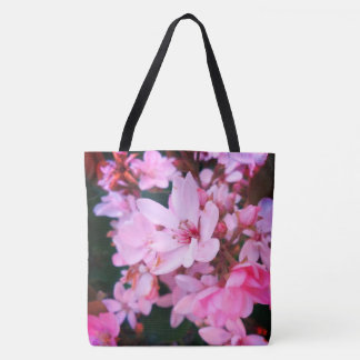 Bolsa Tote Flor cor-de-rosa Bush