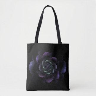 Bolsa Tote Floral roxo escuro