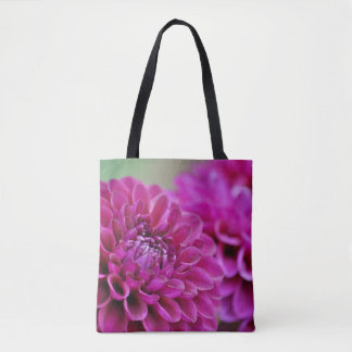 Bolsa Tote Flores roxas da dália