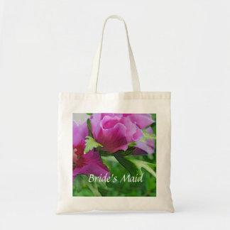 Bolsa Tote Flores roxas do hisbiscus