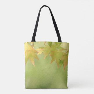 Bolsa Tote Folhas de bordo do outono da serenidade do nascer