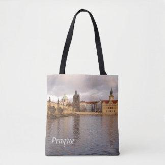 Bolsa Tote Foto velha da lembrança da cidade de Praga