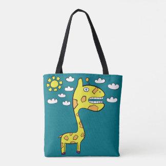 Bolsa Tote Girraffey o girafa - toda sobre - imprima a