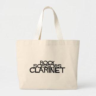 Bolsa Tote Grande A rocha Scissors o clarinete
