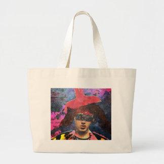 Bolsa Tote Grande A senhora do chapéu do Lampshade
