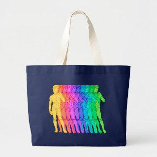 Bolsa Tote Grande Arco-íris do renascimento