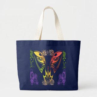 Bolsa Tote Grande Borboleta com saco das flores