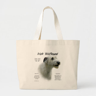 Bolsa Tote Grande Design (branco) da história do Wolfhound irlandês