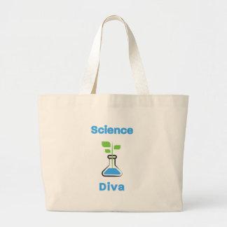 Bolsa Tote Grande Diva da ciência (biologia)