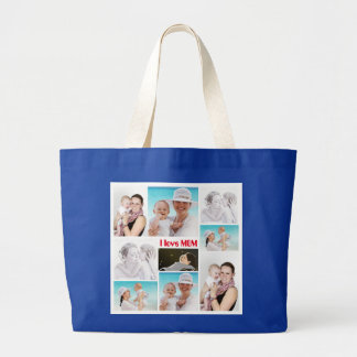 Bolsa Tote Grande Eu amo a sacola da mamã para o dia das mães