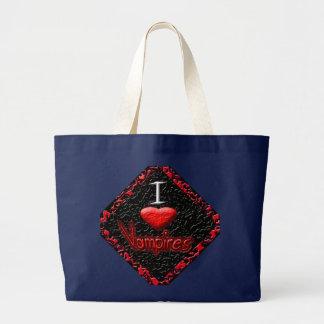 Bolsa Tote Grande Eu amo vampiros