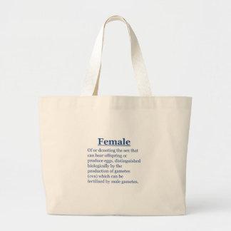 Bolsa Tote Grande Fêmea no azul
