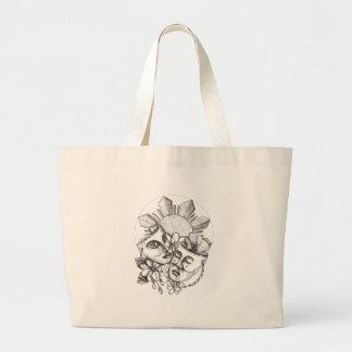 Bolsa Tote Grande Flor S filipino de Sampaguita do hibiscus da