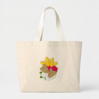 Bolsa Tote Grande Fluxo filipino de Sampaguita do hibiscus de Sun da
