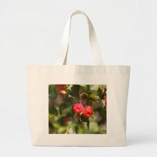 Bolsa Tote Grande Frutas de uma árvore de maçã selvagem