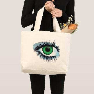 Bolsa Tote Grande Fundo abstrato do saco com olhos