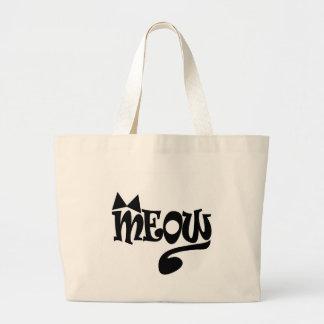 Bolsa Tote Grande Grande sacola do Meow